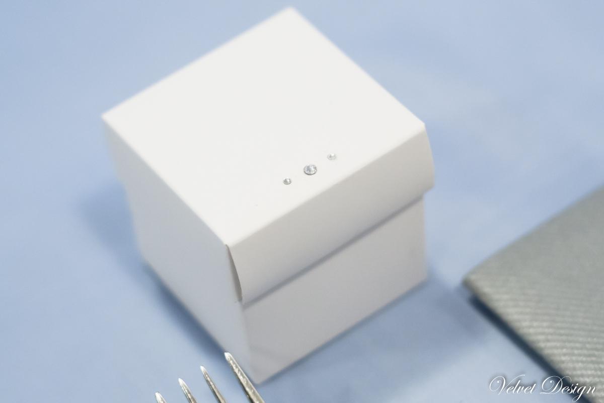krabička biela na darčeky pre hostí