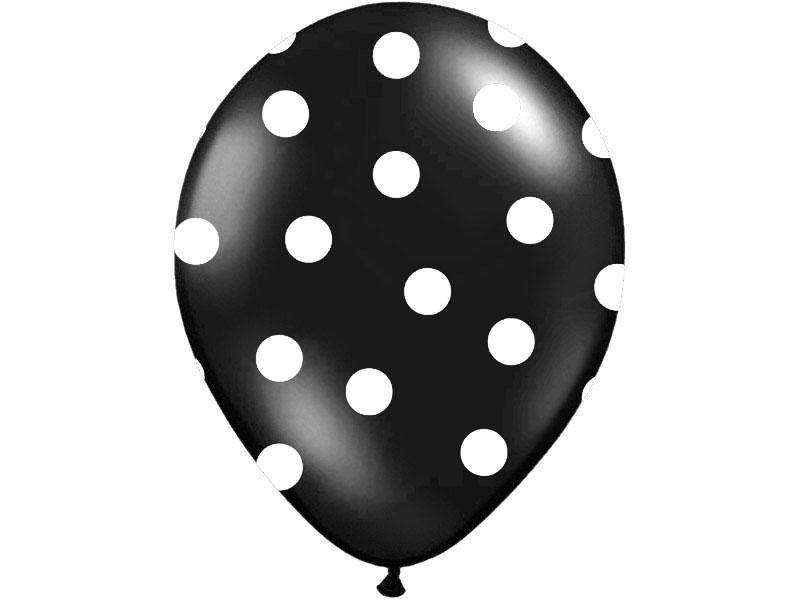 Balón čierny bodkovaný 30cm - Predaj organzy a svadobnej dekorácie ... 11262f8332