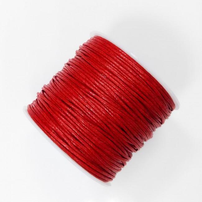 Bavlnený voskovaný špagát červený 1e2cf975b11