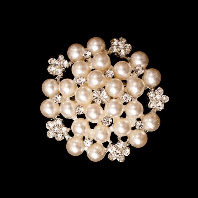 Brošňa Pearl 45mm 1ks - Predaj organzy a svadobnej dekorácie ... ba129bf19d8