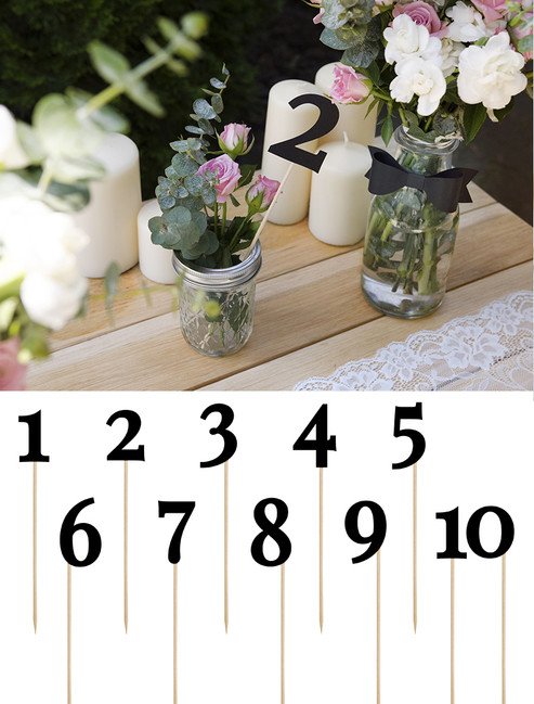 Čísla na stôl čierne 1-10 - Predaj organzy a svadobnej dekorácie ... a162bbcd0f