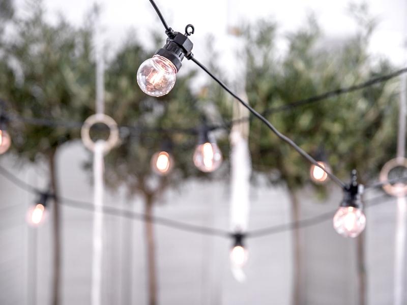 Dekoračné svetielka retro LED čierne 5m - Predaj organzy a svadobnej ... 3b1948332a