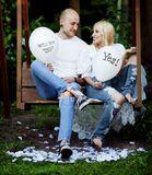 Balón biely s potlačou Will you marry me? / Yes! 30cm