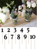 Čísla na stôl čierne 1-10