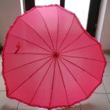 Dáždnik srdiečkový ružový