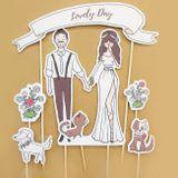 Dekoračný svadobný zápich na tortu Lovely Day