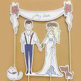 Dekoračný svadobný zápich na tortu My love