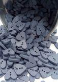 Drevený srdiečkový gombík sivomodrý 18mm