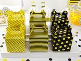 Krabica na darček žltá bodkovaná