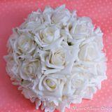 Kvetová ikebana biela 21cm