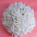 Kvetová ikebana biela 31cm