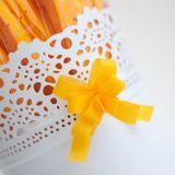 Ozdobná mašlička oranžová