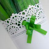 Ozdobná mašlička zelená