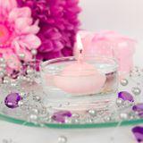 Plávajúce sviečky bledoružové 4cm
