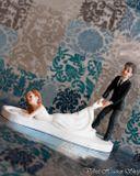 Svadobné postavičky na tortu - svadobné figúrky na tortu ťahanie nevesty