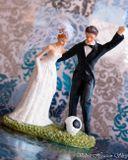 Svadobné postavičky na tortu - svadobné figúrky na tortu futbalista