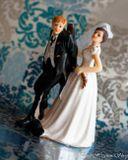 Svadobné postavičky na tortu - svadobné figúrky na tortu Nikam nejdeš drahý!