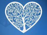 Srdce vyrezávané veľké Strom