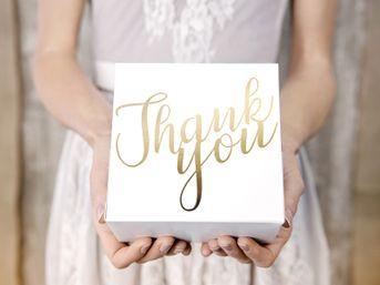 Krabica na výslužku Thank you zlaté