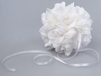 Kvetová guľa biela 15cm