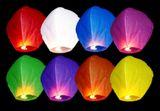 Lietajúce lampióny šťastia farebné 10ks
