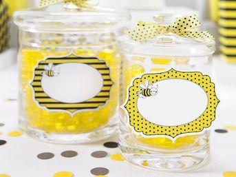 Menovka - etiketa bodkovaná žltá