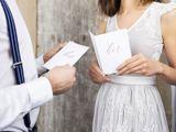 Obaly na svadobné sľuby Her/His biele