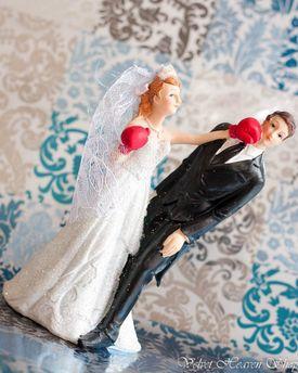 Svadobné postavičky na tortu - svadobné figúrky na tortu boxerista