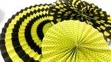 Rozety včielka žlté 3ks