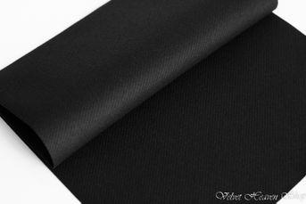 Servítky z netkanej textílie čierne