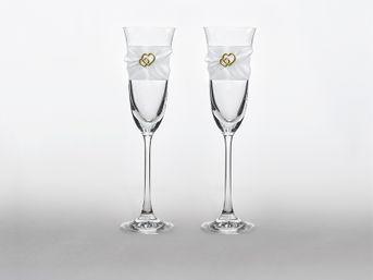 Svadobné poháre Romantic Hearts