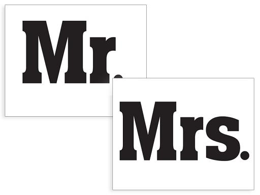 Svadobné nálepky na topánky Mr. a Mrs. 1pár - Predaj organzy a ... f70dfddb04