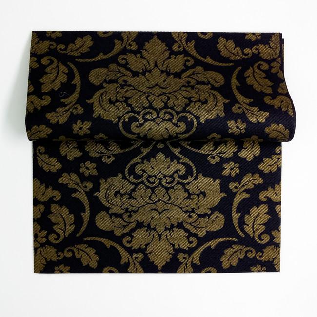 Svadobné servítky z netkanej textílie Damašk čierne - zlaté - Predaj ... cad5078a46