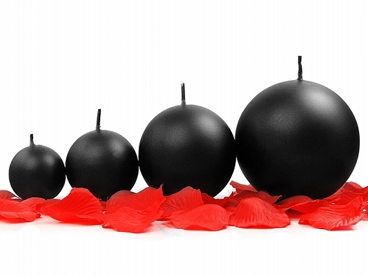 Sviečka guľa čierna 8cm - Predaj organzy a svadobnej dekorácie ... fbf197bdcd