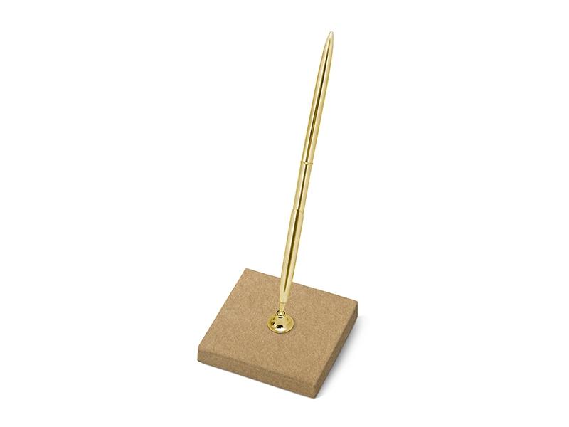 Zlaté svadobné pero s hnedým stojančekom - Predaj organzy a ... a034f124e4